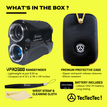 TecTecTec what's in the box precision laser golf rangefinder VPRO500