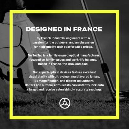 TecTecTec designed in France golf precision laser rangefinders gps watch
