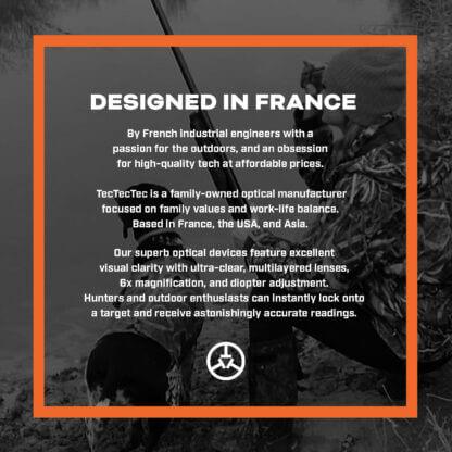 TecTecTec designed in France hunting precision laser rangefinder