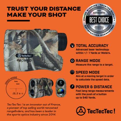 TecTecTec total accuracy range mode speed mode precision laser rangefinder PROWILD