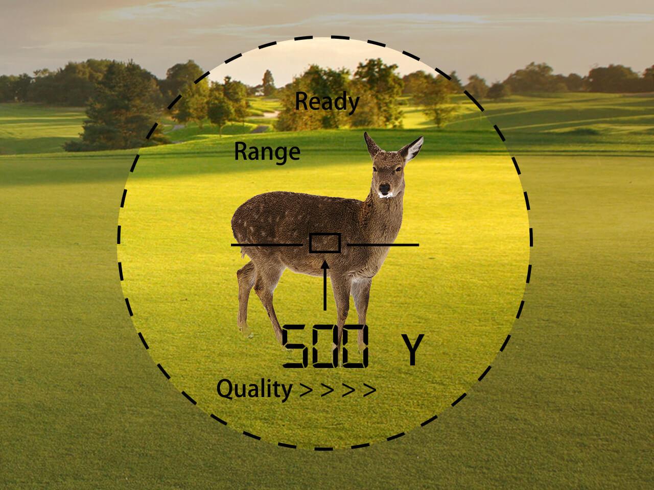 TecTecTec hunting precision laser rangefinder PROWILD 540 Yard measurement 1 Yard precision