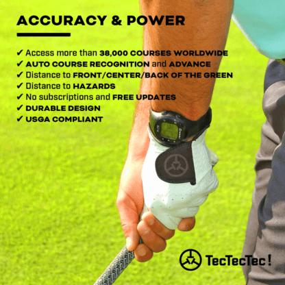 TecTecTec ULT-G precision satellite gps golf watch usga compliant auto course recognition