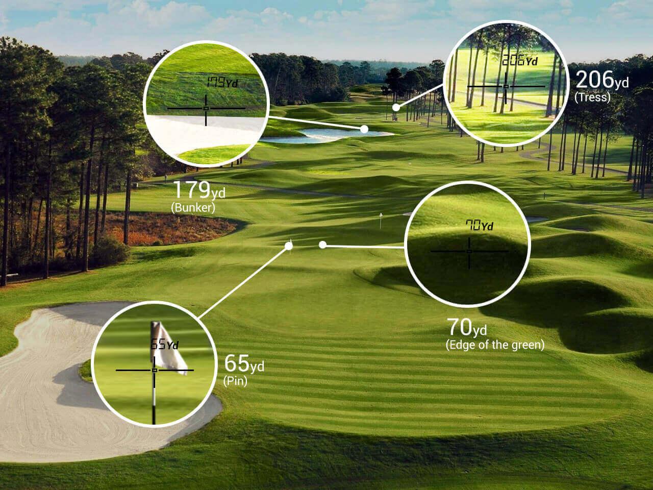TecTecTec precision laser golf rangefinder pga tournament legal